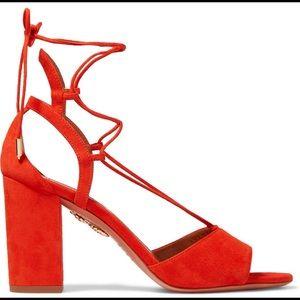 Aquazzura authentic Austin lace up heel sandal